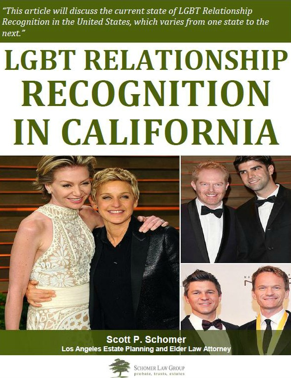 LGBTQ Relationship Recognition in California