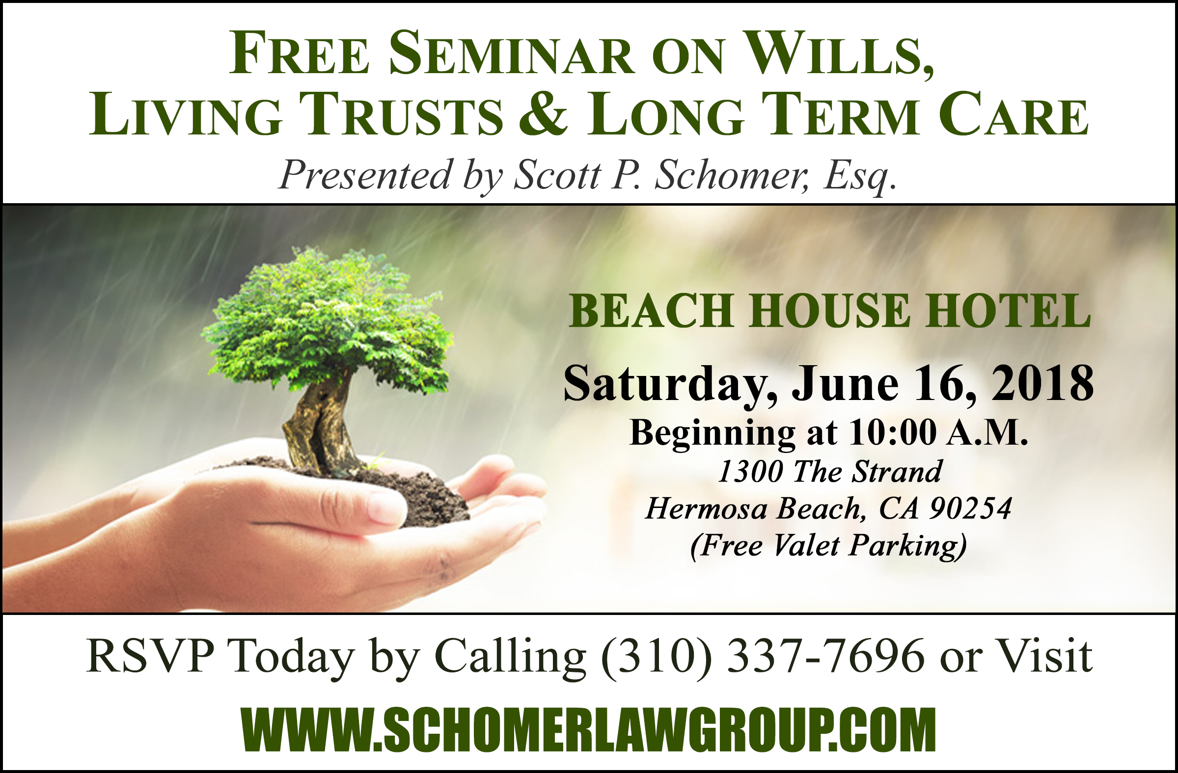 Free Seminar on Wills, Living Trusts & Long Term Care!